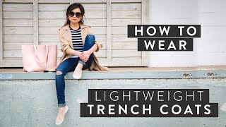 How to Wear Lightweight Trench Coats   Spring 2015 Fashion Trends   Miss Louie