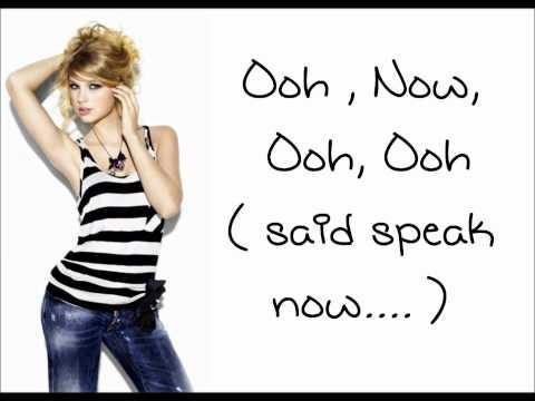 Speak Now - Taylor Swift - Lyrics