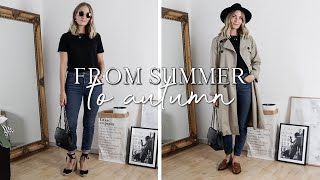 5 basic summer looks transitioned to autumn | Capsule wardrobe
