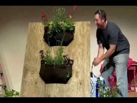 Woolly Pockets Demonstration - vertical gardening