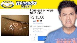 PRODUTOS BIZARROS DO MERCADO LIVRE - FONE USADO DO FELIPE NETO