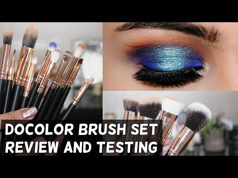 Affordable DOCOLOR 15 Piece Brush Set Review + Testing( Available In India)
