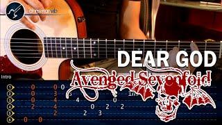 "Cómo tocar ""Dear God"" de Avenged Sevenfold en Guitarra Acústica (HD) Intro - Christianvib"