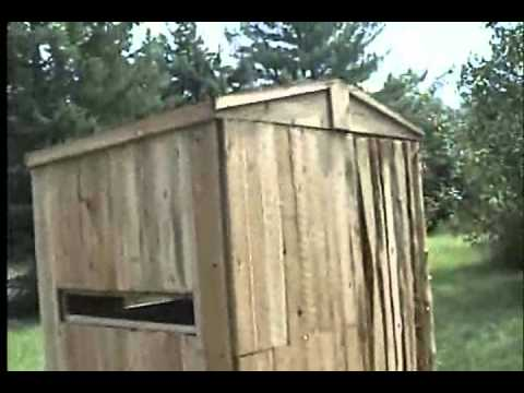 Learning How To Build A Cedar Bow Deer Blind Youtube