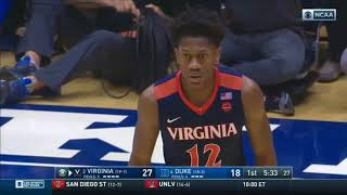 (NCAAM) #2 Virginia Cavaliers at #4 Duke Blue Devils in 40 Minutes