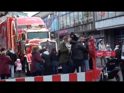 Świąteczna Ciężarówka Coca Coli W Szczecinie