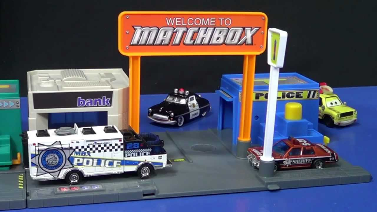 Matchbox Adventure Links Police Headquarters Review Youtube