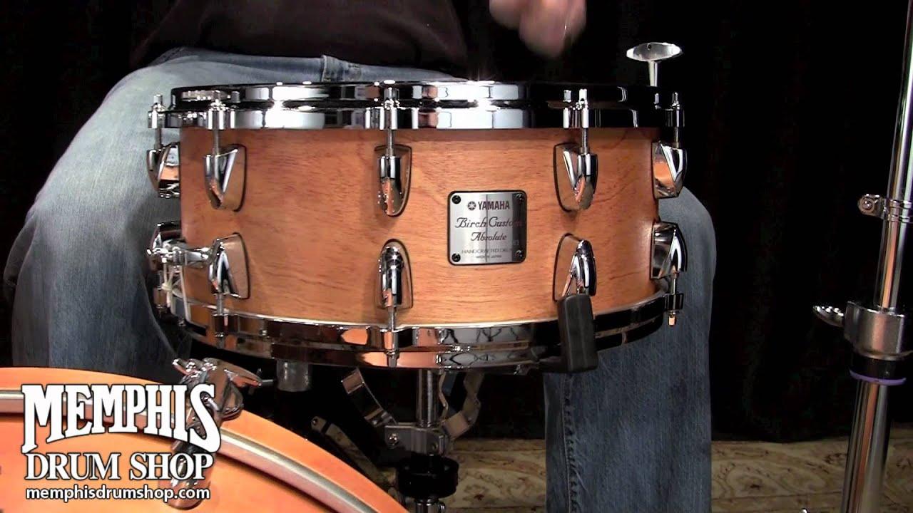 Yamaha Birch Custom Absolute Snare Drum