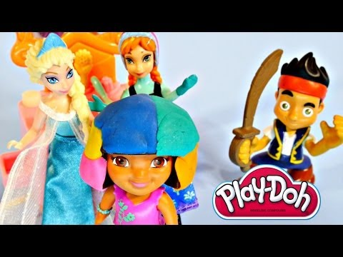Play Doh Playsets - Cookie Monster Dora Peppa Pig Frozen Mickey Mouse Playdough