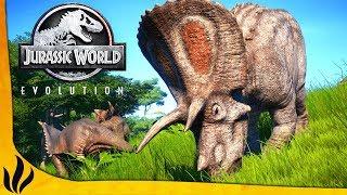 UN TRICERATOPS ME CHARGE ! JE GÈRE MON PROPRE JURASSIC WORLD ! (Jurassic World Evolution #1)