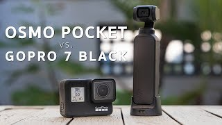 DJI Osmo Pocket vs. GoPro Hero 7 Black | Which Camera is REALLY BETTER?