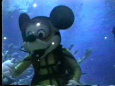 Mickey Mouse scuba diving