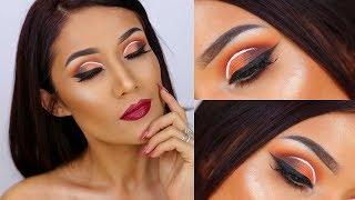 Matte Orange Eyeshadow