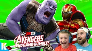Avengers: ENDGAME in WWE 2k19 (Royal Rumble Match) KidCity Gaming