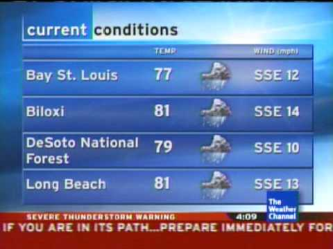 Local forecast in Gulfport, MS. 6/13/07 4:08pm