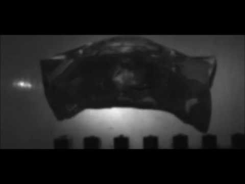 SLOW MOTION 308 Winchester Federal 150gr Fusion JSP impacting ballistic gelatin