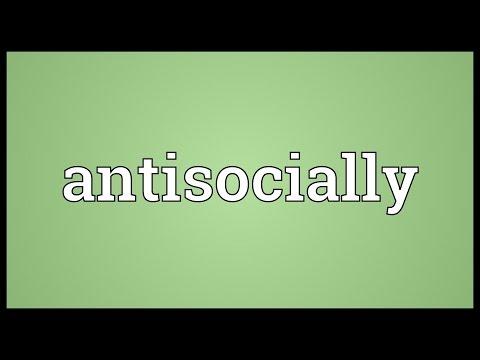Header of antisocially