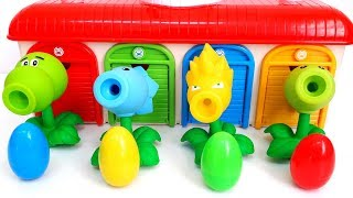 Plants vs zombies Playset Kids Toys Review