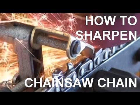 Chainsaw Slabber Chain Sharpening - Peterson Portable Sawmills