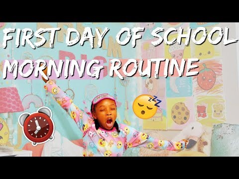 FIRST DAY OF SCHOOL MORNING ROUTINE 2018  / BACK TO SCHOOL GET READY WITH ME