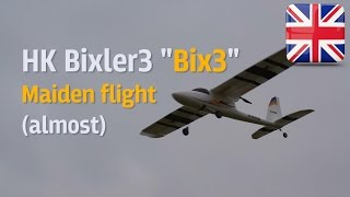 "HobbyKing Bixler3 ""Bix3"" - Almost Maiden flight"