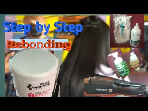 TUTORIAL, STEP by STEP REBONDING /SMOOTHING RAMBUT NORMAL ...random produk