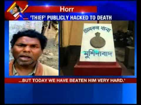 Shocking mob horror in West Bengal - 'thief' publicly hacked to death