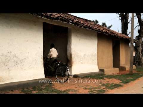 Gond tribal village near Kanha, Madhya pradesh
