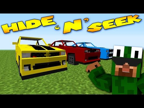 Minecraft Mods - MORPH MOD HIDE AND SEEK - FERRARI & LAMBORGHINI ( Modded Minigame)