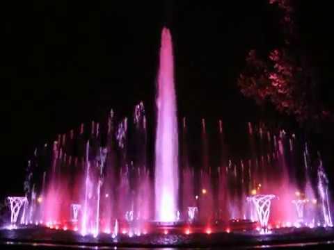 Budapest: Margitszigeti zenélő szökőkút - Margaret Island Musical Fountain