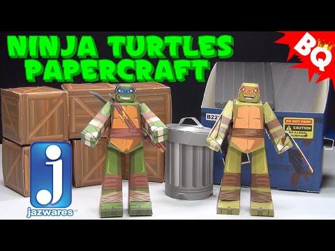 Ninja Turtles Papercraft Turtles Pack Jazwares Review