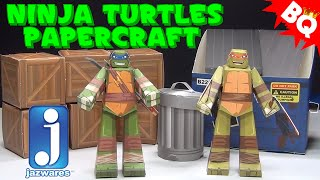 Ninja Turtles Papercraft Turtles Pack Jazwares Review