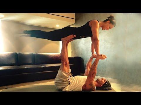 Bipasha Basu & Karan Singh Grover's HOT Yoga