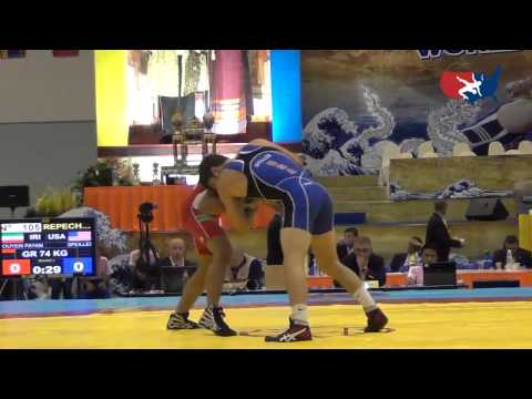 2012 Junior Worlds - GR 74kg Repechage - Geordan Speiller (USA) vs. Payam Bouyeri (IRI)