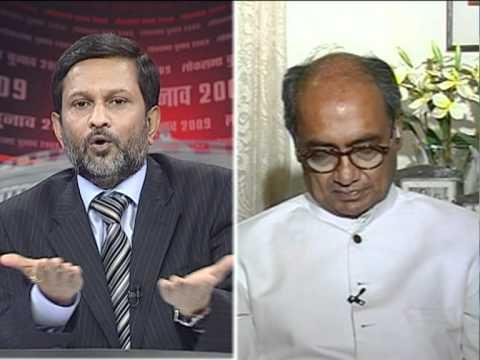 Ajit Anjum on NEWS 24 during Lok Sabha Election Results 2009 ( 3)