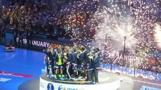 Médailles, podium et clapping des Bleus   France Norvège   Finale du mondial 2017