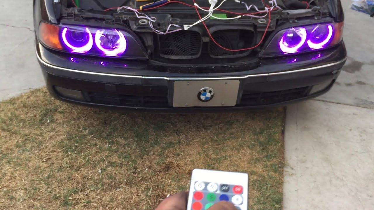 How To Install Multi Color Angel Eyes Halo Rings Led Rgb Bmw 5 Series 3 Series E39 528i 328i M5