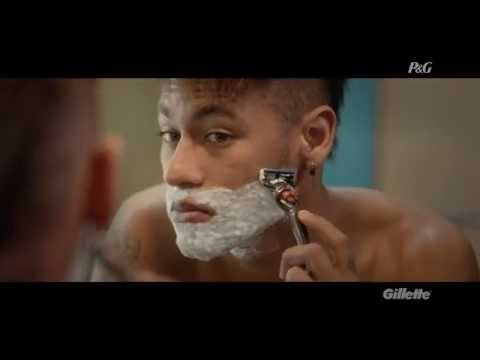 Neymar Jr in the Gillette commercial
