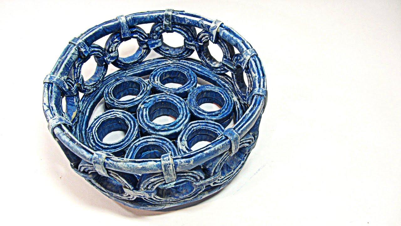 Vida verde como reciclar papel periodico de diario - Hacer cestas con papel de periodico ...