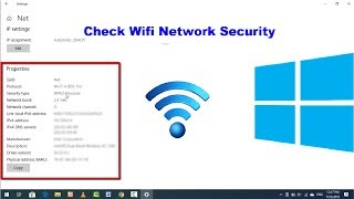 Easy Method to check WiFi Network Security Type on Windows 10 2019