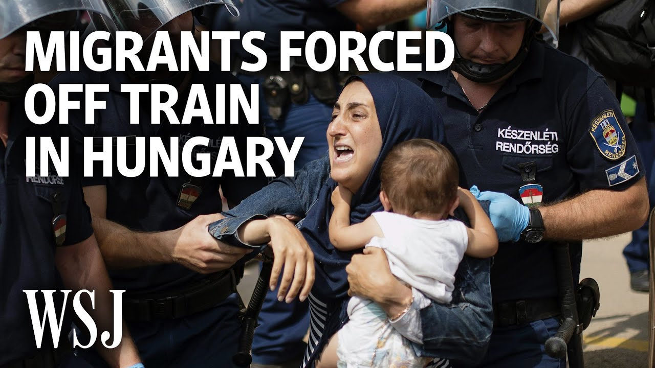 Armed Police Force Migrants Off Train in Hungary