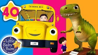 Dinosaur on The Bus | Wheels on The Bus +More Nursery Rhymes & Kids Songs | Little Baby Bum