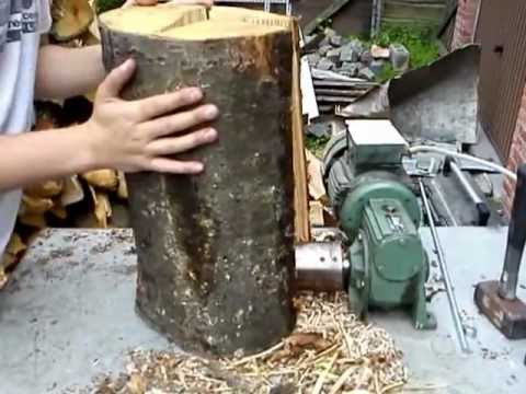 Wood screw splitter vis fendeuse electric powered youtube - Vrille a bois ...