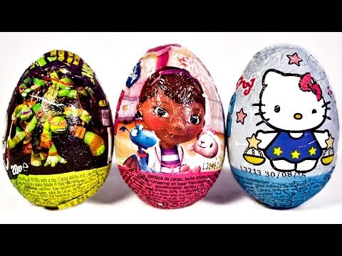 Surprise Eggs Hello Kitty Ninja Turtles Huevo Kinder Sorpresa by Unboxingsurpriseegg