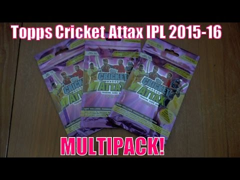 BLISTER PACK ☆ Topps CRICKET ATTAX Indian Premier League 2015-16 Trading Cards