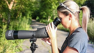BIRDING with a Pentax Spotting Scope (PF-80ED-A)