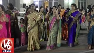 Telangana NRI's Celebrates Bathukamma Festival At Houston City | USA