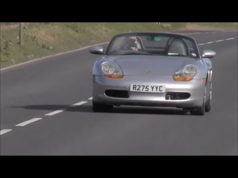 Porsche Boxster 986 Sports exhaust flyby sound
