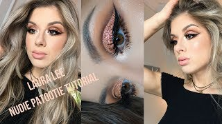 NEW Laura Lee Nudie Patootie Eyeshadow Tutorial - Cut Crease