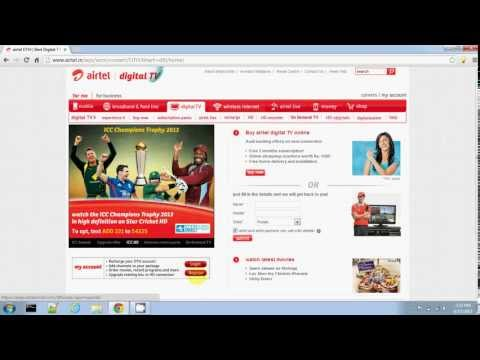 AIRTEL DIGITAL TV ONLINE RECHARGE IN INDIA